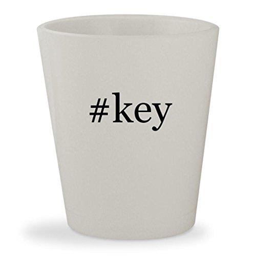 #key - White Hashtag Ceramic 1.5oz Shot - Glasses Alicia Keys
