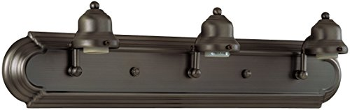 Craftmade Arch - Craftmade 11724OB3 Racetrack 3 Light Arch Arm Vanity Incandescent, Oiled Bronze