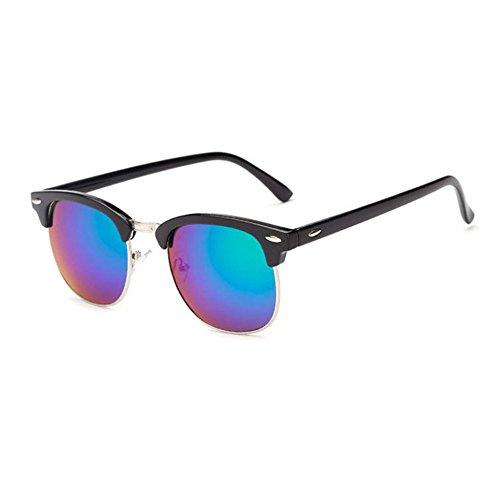 Aoligei Riz de Vintage classique nail color film fashion tendance lunettes de soleil réfléchissantes centaines tour lunettes de soleil TZfHlfz