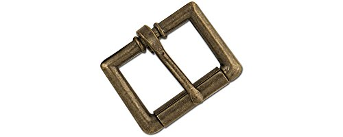 Tandy Leather Roller Strap Buckle Antique Brass Plate 1
