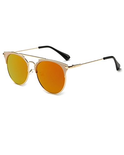 Konalla Classic Oval Metal Thin Frame Tinted Lens UV Protection Sunglasses - Faces Asian For Reading Glasses