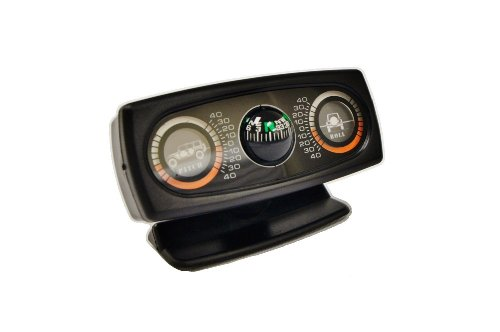 Price comparison product image Rampage 791006 Jeep Pitch and Roll Clinometer with 4 dr JK Unlimited Graphic and Compass