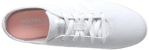 Adidas Cloudfoam Qt Vulc W, Scarpe da Ginnastica Donna, Bianco (Ftwbla/Ftwbla/Plamat), 38 EU