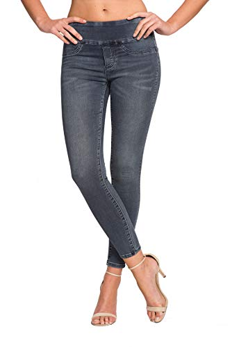 Lior paris Signature Power Stretch Jane 5 Wash Skinny Jeans (Blue Denim, 8) - Paris Blues Jeans Pants