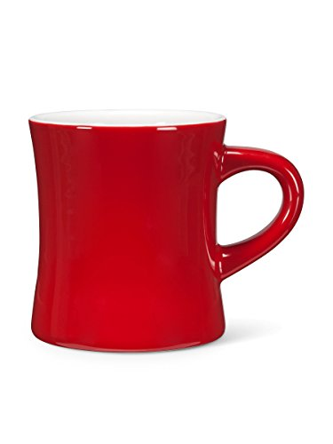 Abbott Collection Avenue Diner Look Porcelain Mug, Red