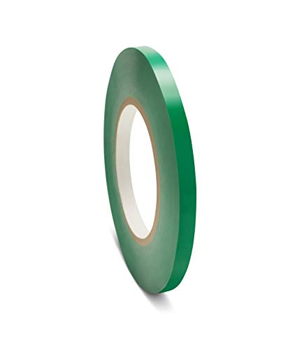 Poly Bag Sealer Tape, Green, 3/8 Inch x 180 Yards, 6 Rolls