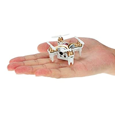 Mini Palm-size RC Drone Aerial Quadcopter OKPOW Double Remote Control 2.4GHz 4CH 6 Axis Gyro FPV Wifi RC Real-time 720P Video Altitude Hold Drone with LED Light by OKPOW