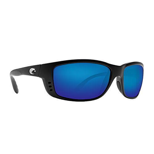 Costa Del Mar Zane Sunglasses, Black, Blue Mirror 580P Lens by Costa Del Mar