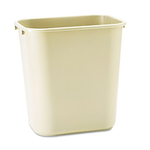 Rubbermaid Commercial Plastic 7-Gallon Trash Can, Beige