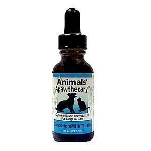 0ANIV Animals' Apawthecary Milk Thistle for Dogs and Cats, 1oz