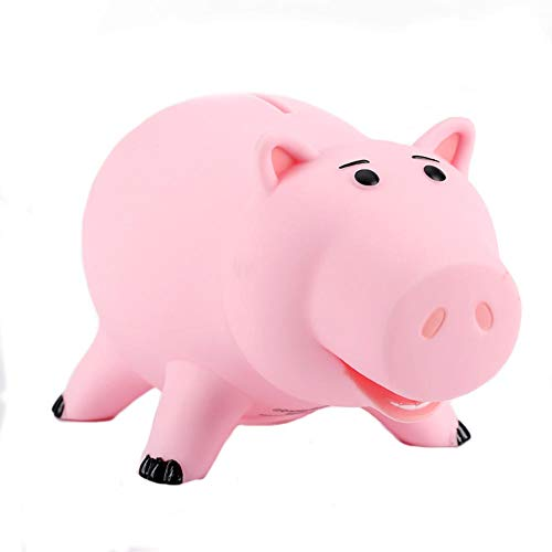 LDDX Piggy Bank,Cute Pink Plastic Pig Money Box Saving Coin Box Money Bank for Kid Children Girls Boys ()