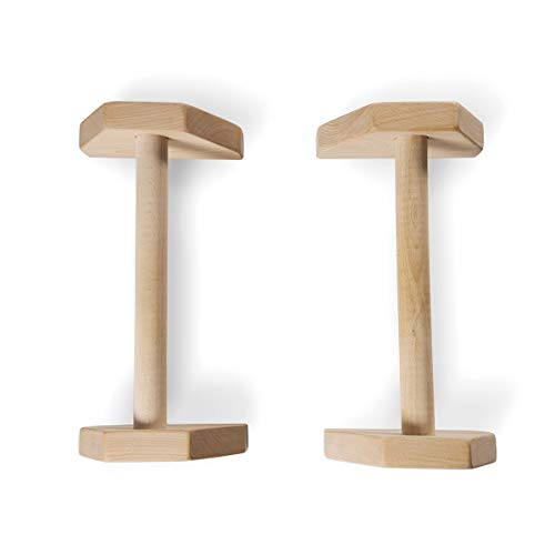 YOGABODY Birch Wood Parallettes (Set of 2) | Beautiful, Smooth, Non-Slip Yoga & Gymnastic Training Tool for L-Sits, Lolasana, Handstand Pushups, Jump Backs & More by YOGABODY (Image #3)