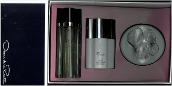 Oscer De Renta Gift Set 3 Pcs. ( 3.3 EDT Spray + 4.0 oz. Body Lotion + 3.0 oz. Perfumed Dusting Powder] Women by Oscar De La Renta