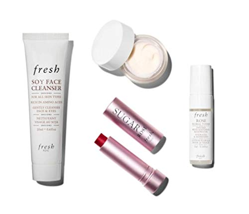 Treatments Lip Toners - Fresh Blooming Beauties~ Beauty Insider Box~ Soy Face Cleanser 0.67oz, Lotus Youth Preserve Face Cream 0.24oz, Rose Floral Toner 0.16oz, Sugar Lips Treatment Sunscreen SPF15 0.08oz~