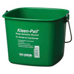 - Kleen-Pail, 6qt, Plastic, Green, 12/Carton by MOT5