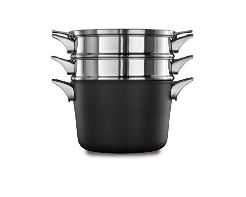 Calphalon Pasta Insert - Calphalon Premier Space-Saving Hard-Anodized Non-Stick 8-Qt. Multi-Pot & Lid