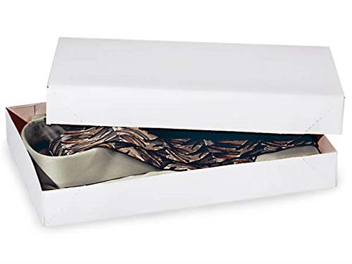Recycled White Apparel Boxes - White Economy Apparel 15x9-1/2x2'' 100% Recycled ~ 2 Piece Pop Up Box (100 Boxes) - WRAPS-AB3E