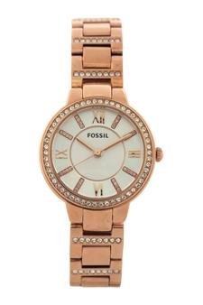 Fossil-Es3284p-Virginia-Rose-Tone-Stainless-Steel-Watch-Watch-For-Women