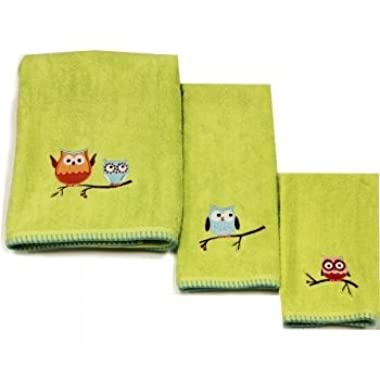 Hooty Hoot  Bathroom Shower Collection - Set of 2 Hand Towels