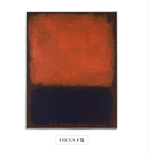 Canvas Prints Mark Rothko Focus Canvas Painting Posters Print Color Block Modern Decor Wall Art Pictures for Living Room Bedroom Aisle,30X45CM(12X18inch)