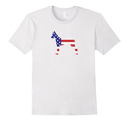 Mens Patriotic American US Flag Fourth July Doberman dog T-shirt 3XL (Doberman Dog T-shirt)