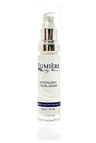Lumière by René ® Revitalizing Facial Serum - Skin Brightening Cream, Age Spots, Anti-Aging Facial Moisturizer; Natural ingredients: Vitamin B3, Kojic Acid Ester & Hyaluronic - Face Brightener