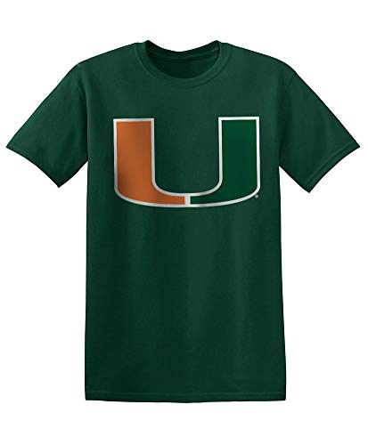 (Elite Fan Shop NCAA Men's Miami Hurricanes T Shirt Team Color Icon Miami Hurricanes Green XX Large )