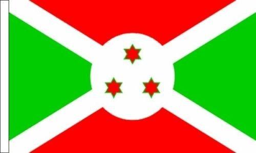 Burundi Drapeau Convient pour bateaux à manches 45cm x 30cm (45,7x 30,5cm) + 59MM Bouton Badge