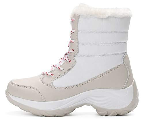 Waterproof Après Neige Fille Femmes Hiver Wuiwuiyu De Ski BootsBottes Imperméables Blanc 80mNnwv