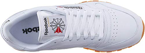Reebok Men's Classic Leather Casual Sneakers, White/Gum, 11.5 M US
