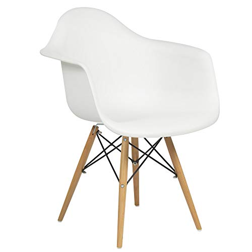 Best Choice Products Eames Style Armchair Mid Century Modern Molded Plastic Shell Arm Chair (Best Choice Products Chair)