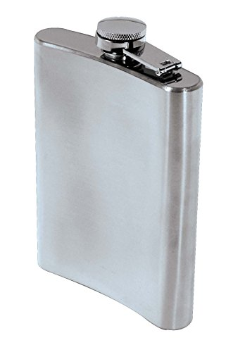 SE HQ8 8 oz. Stainless Steel Hip Flask