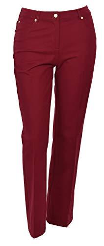 St. John Sport Wild Fire Red Stretch Cotton Bootcut Pants $295, Size 8