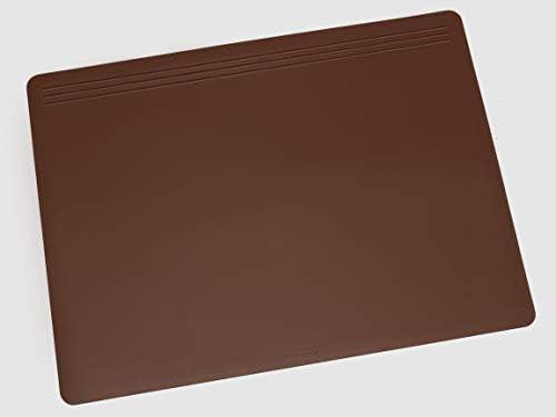 Läufer 32702 Matton Schreibtischunterlage 49x70 cm, braun, rutschfeste Schreibunterlage für besonders Hohen Schreibkomfort, Hochwertiger Vlies auf der Rückseite