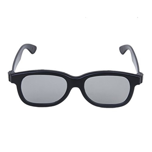 SODIAL(R) 5 Pairs of Adults Passive Circular Polarized Lens 3D Glasses - Black