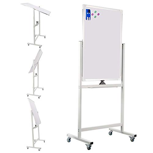 Double-Sided Mobile Dry Erase Whiteboard/White Boards on Wheels 36