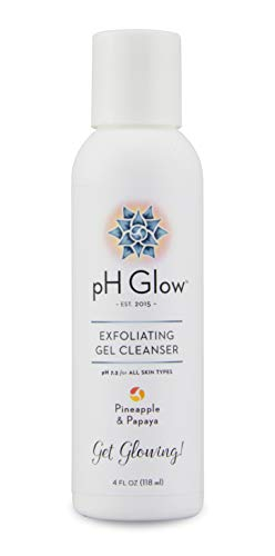 Daily Exfoliating Face Wash 100% Natural Enzymes Exfoliate, Purify and Brighten skin. Gentle Anti Aging pH Balanced Facial Cleanser for Your Healthiest Glow. No paraben/SLS, Fragrance Free