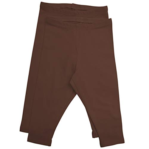 Stretch is Comfort Girl's Infant Leggings 2 - Pack Brown X-Small 3M ()