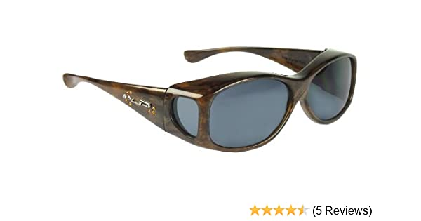 79eac2134ba Amazon.com  Fitovers Eyewear Glides Sunglasses with Swarovski Elements on  temples (Brown