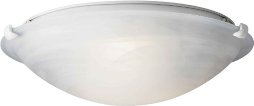 03 Forte Ceiling Lighting - Forte Lighting 2199-02-03  Flush Mount with Marble Glass Shades, White
