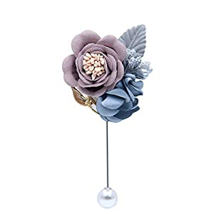 Wedding Prom Boutonniere Graduation Party Boutonniere Wedding Groom Groomsmen Brooch Rose Boutonniere pin Suit Dress Accessories 34