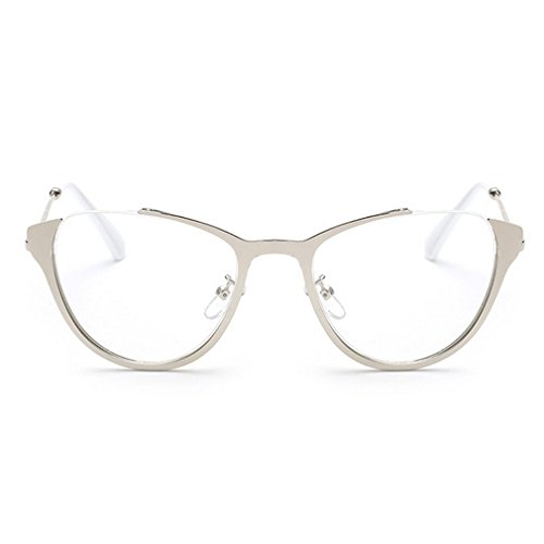 LOMOL Girls Fashion Trendy Cute College Style Transparent Lens Cateye EyeGlasses Plain - How Clean To Lenses Oakley