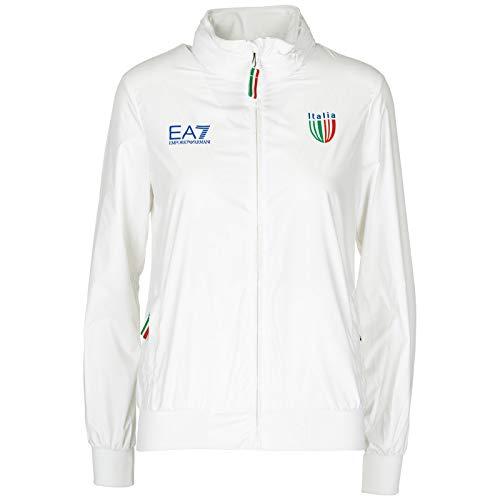 Eayqwxbe mawada Armani Blouson Ea7 Italia Blanc Femme Team Emporio 0qqBTOxd