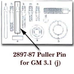 KD Tools (KDT2897-87) Puller Pin for GM 3.1 for KDT2897
