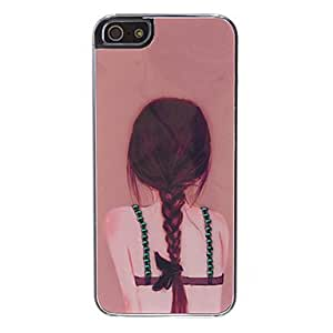 QHY Rhinestone Style Girl Pattern Hard Case for iPhone 5/5S