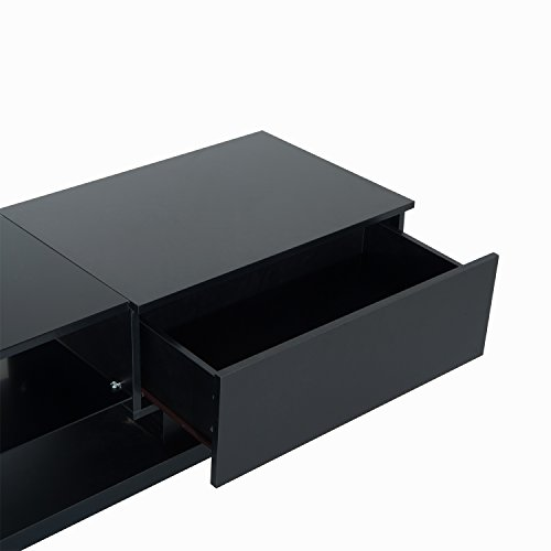 HomCom 51'' Modern TV Stand Media Center - Black by Overstock (Image #4)'