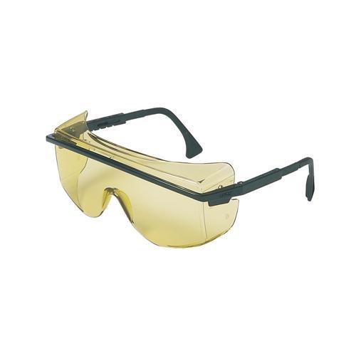 Black Frame Pack of 10 Gray Lens UVEX by Honeywell 763-S2504 Astrospec Series 3001 OTG Safety Eyewear Ultra-dura Anti-scratch Coating 1233C62PK Honeywell International Inc
