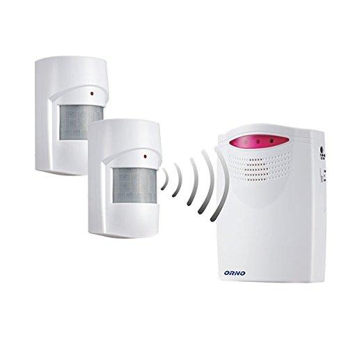 Alerta de carga de la campana de movimiento inalámbrico para entrada de 120 meter la carga de timbre (para la carga de timbre + 2 sensor de movimiento): ...