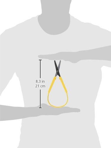 School Smart Loop Scissors - 8 inches - Yellow