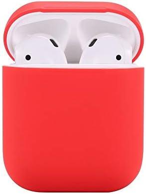Compatibel met AirPods hoesbeschermende siliconen hoes met sportriem voor Apple Airpods oplaadcassette compatibel met Apple AirPods 21 donkerzwart Airpods CaseRed